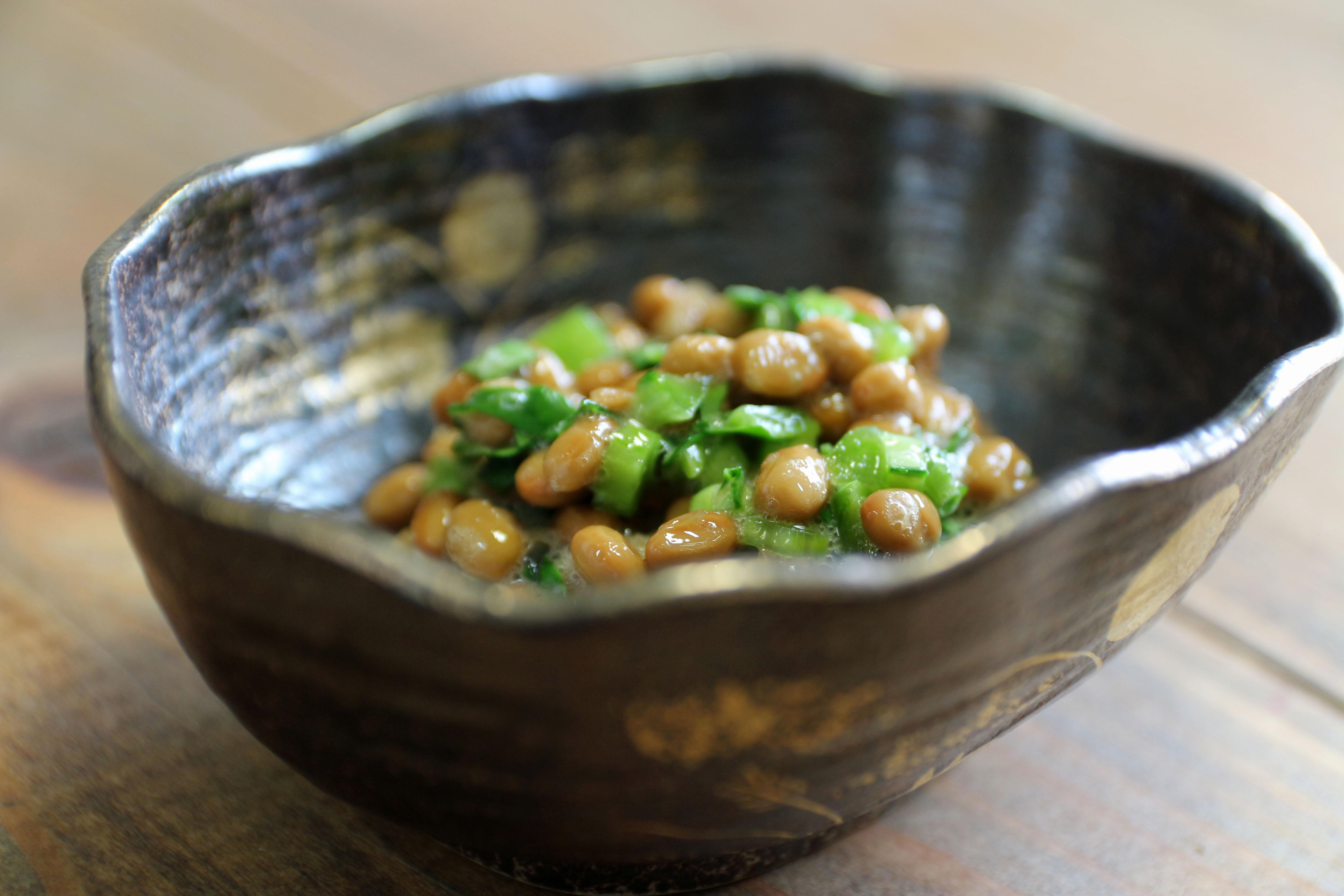 ケール納豆のレシピ